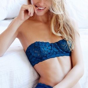 Free People Love Letters Convertible Lace Bra teal
